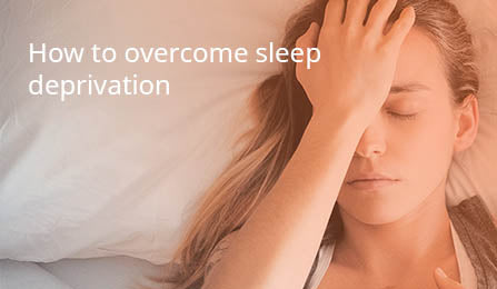 Women suffering from sleep deprivation