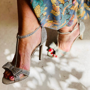 INC INTERNATIONAL CONCEPTS EMBELLISHED BOW HEELS