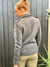 Load image into Gallery viewer, DEVAL WOOL BIKER JACKET GREY