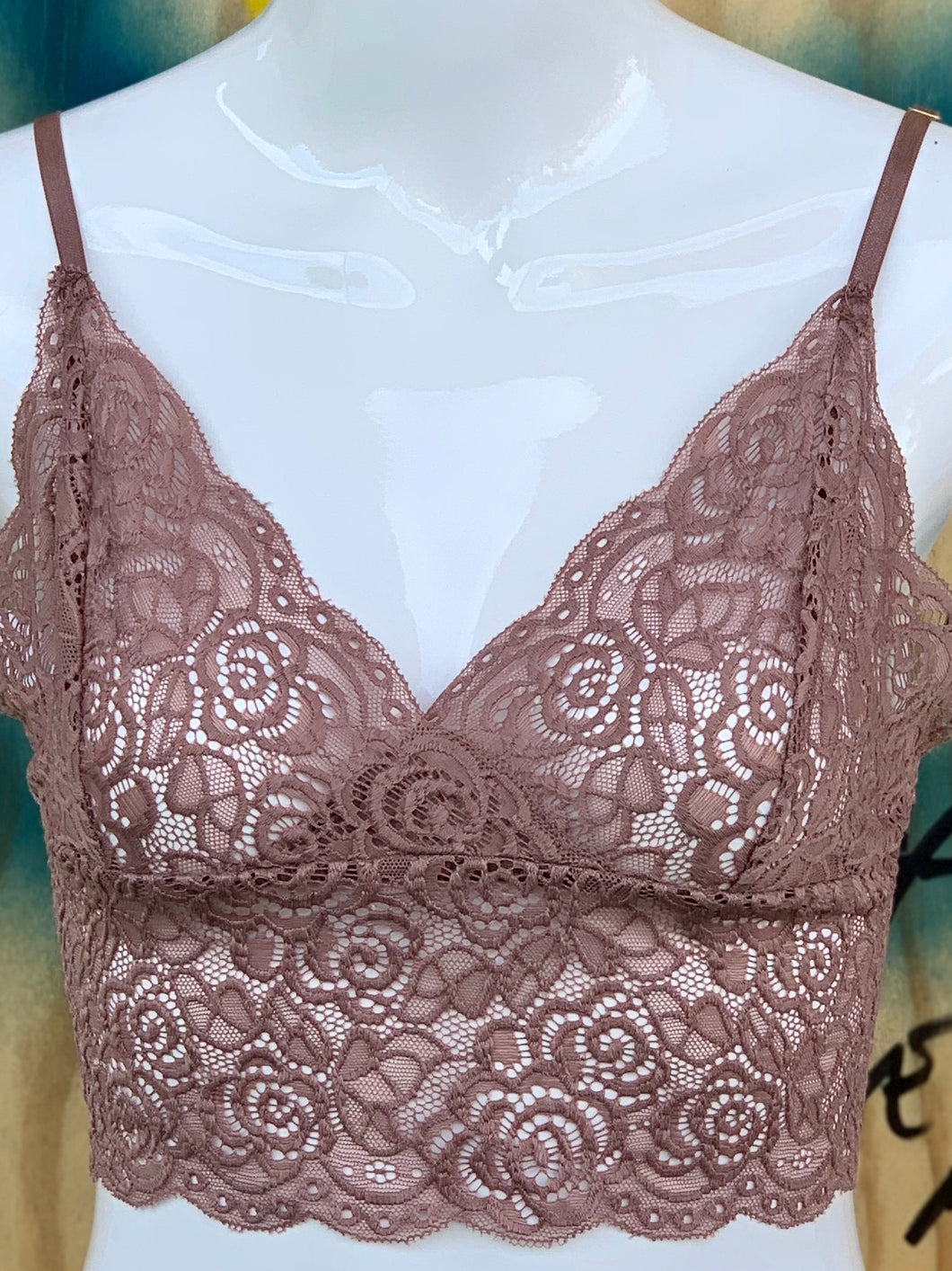 QUEEN OF THE FOXES LACE BRALETTE DUSKY ROSE