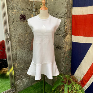 ADIDAS TREFOIL SLEEVELESS DRESS WHITE