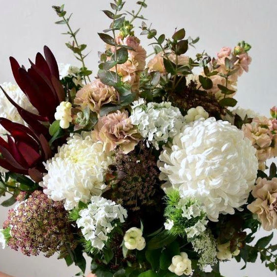 Champagne inspired bouquet of seasonal flowers from the best florist in Ashburton, Victoria.  The Branche delivers flowers to Malvern, Malvern East, Ashwood, Camberwell, Glen Iris, Toorak, Ashwood, Burwood, Carnegie, Glen Huntly, Hughesdale, Kooyong, and Oakleigh.