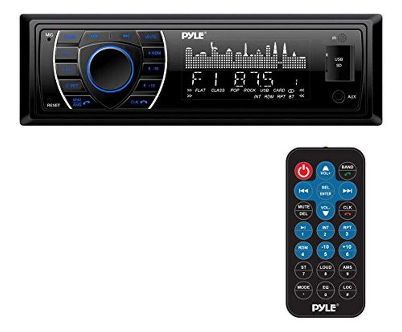 Pyle Bluetooth Marine Receiver Stereo - 12v Single DIN Style Boat In Dash Radio Receiver - TrendyShop México