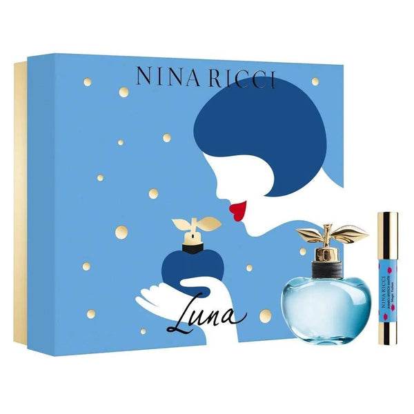 Nina Ricci Luna for Women 2 Piece Gift Set (2.7 Ounce Eau de Toilette Spray + 2.5 Ounce G Jumbo Lipstick Mate) - TrendyShop México