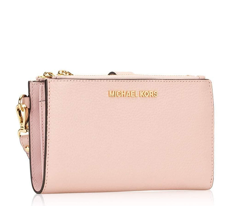 Michael Kors Jet Set Travel Double Zip Saffiano Leather Wristlet Wallet (Blossom) 35F8GTVW0L-656 - TrendyShop México
