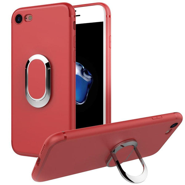 Funda Compatible para iPhone 7, Compatible con iPhone 8, Fundas Gel Anti Deslizamiento Case con Selfie Soporte - TrendyShop México