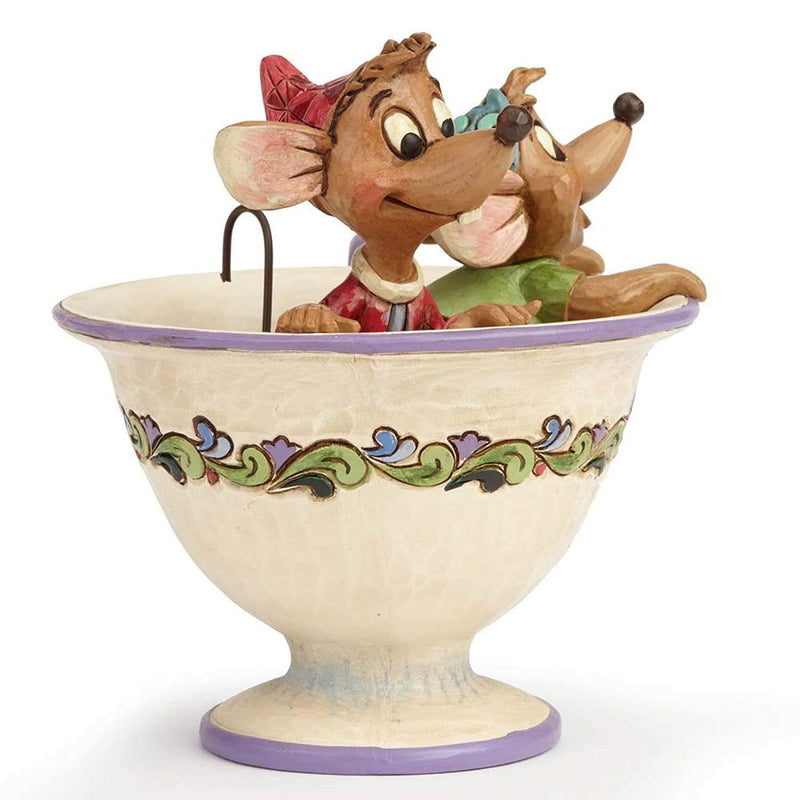 Enesco 4016557 Disney Traditions Designed by Jim Shore for Jaq and Gus in Tea Cup Figurine 4.5 IN - TrendyShop México