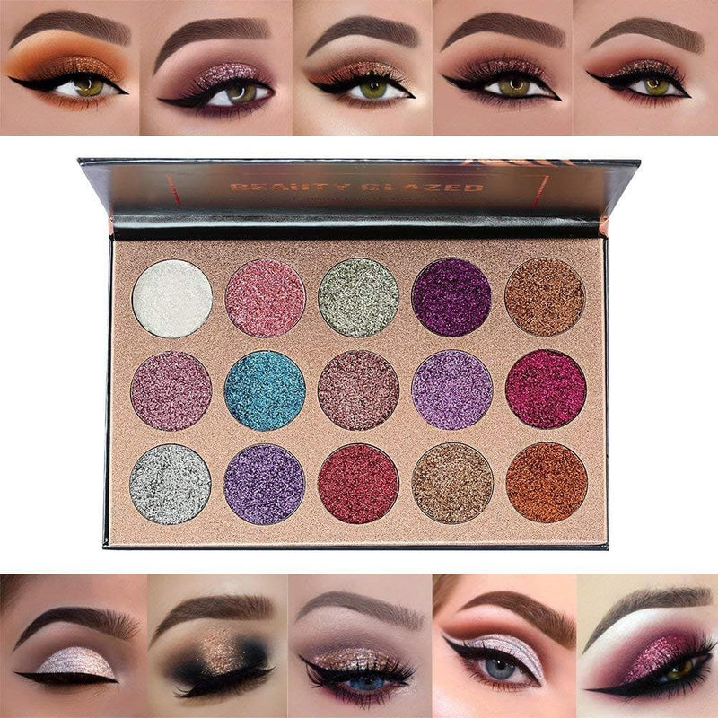 Beauty Glzaed -15 Colors Glitter Make-up - TrendyShop México