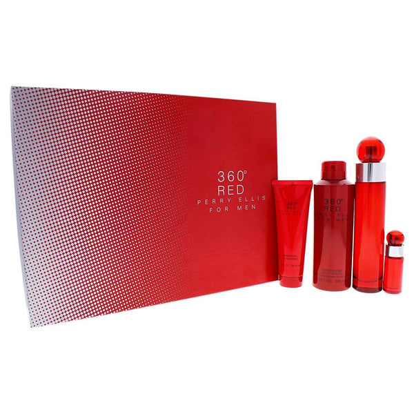 Perry Ellis 360 Red 4 Piece Gift Set for Men 3.4oz - TrendyShop México