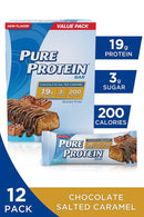 Pure Protein Bars, High Protein, Nurtritious Snacks to Support Energy, Low Sugar, Gluten Free, Chocolate Salted Caramel, 1.76oz, 12 Pack - TrendyShop México