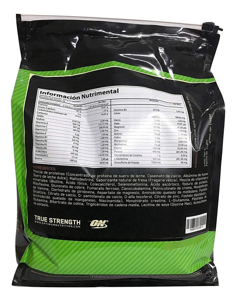 Optimum Nutrition Serious Mass Banana 12LB - TrendyShop México