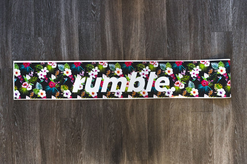 Rumble. Floral Sunshade Banner