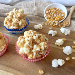 Salted caramel popcorn cups for kids parties