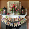 reusable bunting, burlap