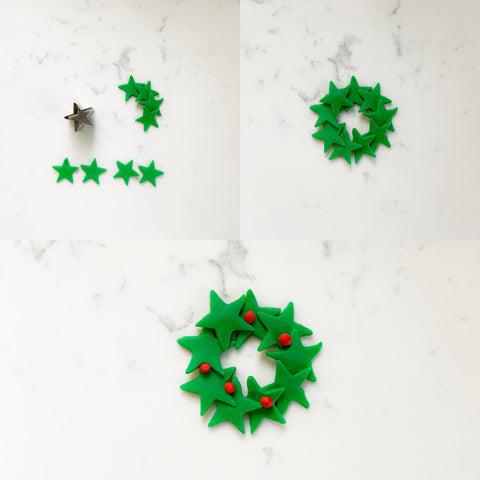 Star Wreath Mini Cake Instructions