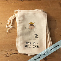 Custom cotton pouch for party favors for 1st birthday party ideas