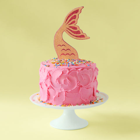 Mermaid cake swoopy frosting