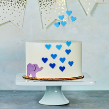 Load image into Gallery viewer, Elephant baby shower cake, blue