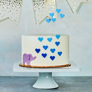 Elephant baby shower cake, blue