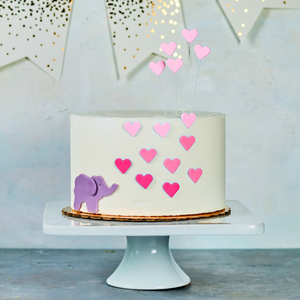 Elephant baby shower cake, pink