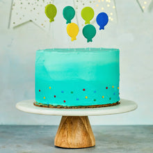 Load image into Gallery viewer, Balloon fondant toppers on cake