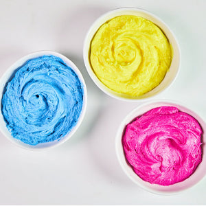 Buttercream with natural food coloring