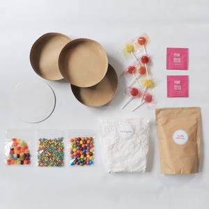 Baking supplies for candy cake kit