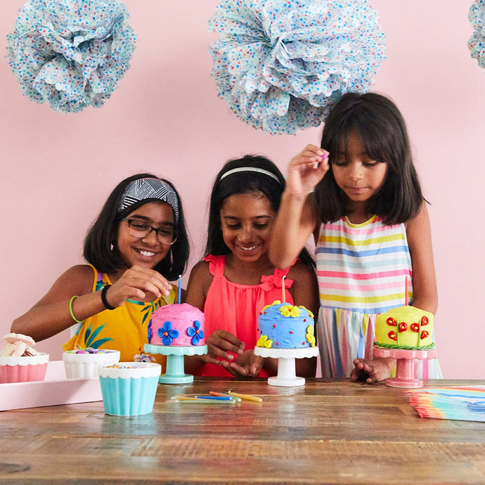 Virtual cake decorating play date, virtual birthday party