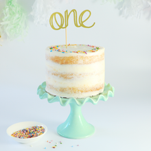 Load image into Gallery viewer, Naked cake, smash cake, 1st birthday cake