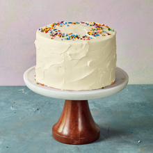 Load image into Gallery viewer, Beautiful birthday cake with rainbow sprinkles