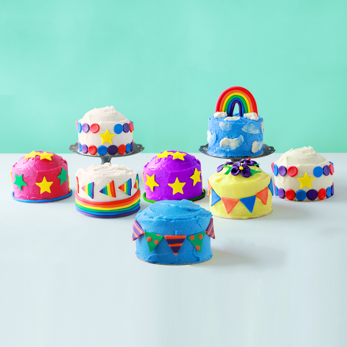 Mini cakes for cake decorating, easy baking, baking with kids, and more