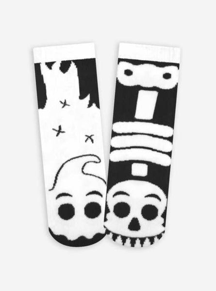 Pals Socks - Glow-in-the-Dark Ghost & Skeleton Kids Mismatched Socks