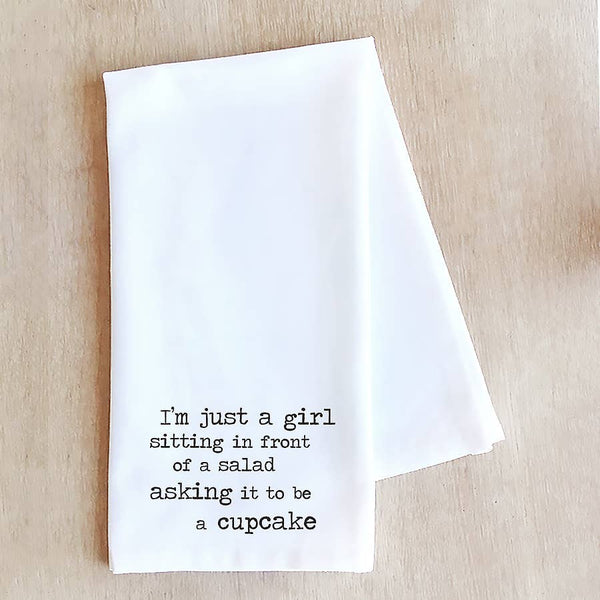 Devenie Designs - I'm Just A Girl - Tea Towel