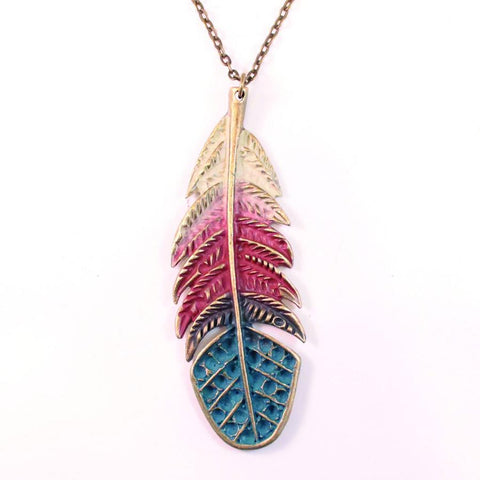 Gleeful Peacock - Dream Weaver Feather Necklace
