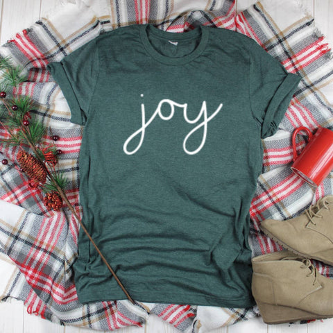 Top Crate Clothing - Christmas Graphic Shirt- Joy