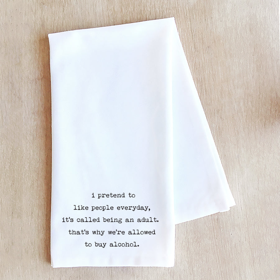 Devenie Designs - Being An Adult - Tea Towel