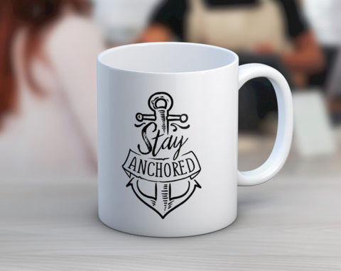 Quotable Life - Stay Anchored Coffee Mug