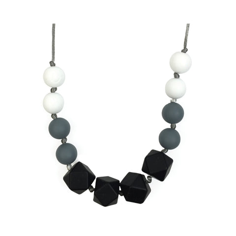 Itzy Ritzy - Black and White Onyx Petite Strand Necklace
