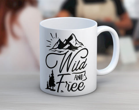 Quotable Life - Wild And Free Coffee Mug