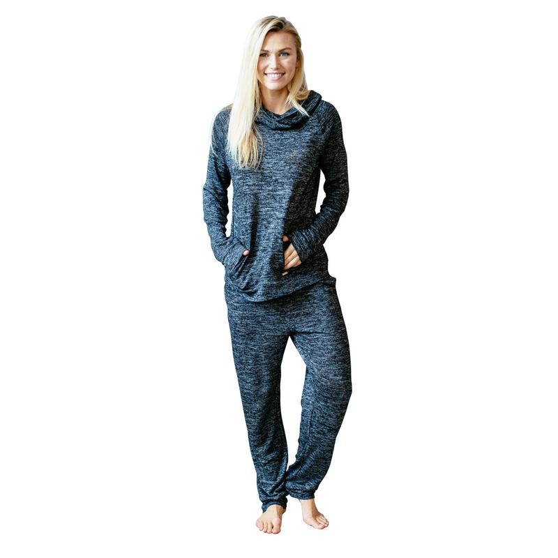 Carefree Threads Black Lounge Pants with Pockets