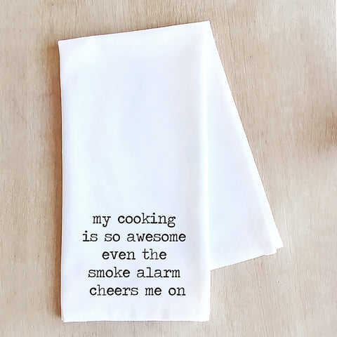 Devenie Designs - My Cooking Is So Awesome - Tea Towel