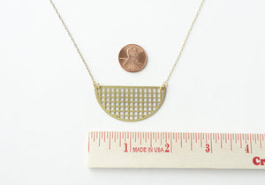 A Tea Leaf Jewelry - Graph Semicircle Necklace | Brass