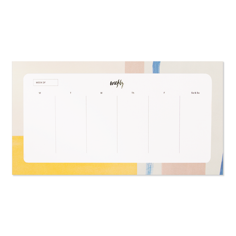 Our Heiday - Canary Colorbloc Agenda Pad