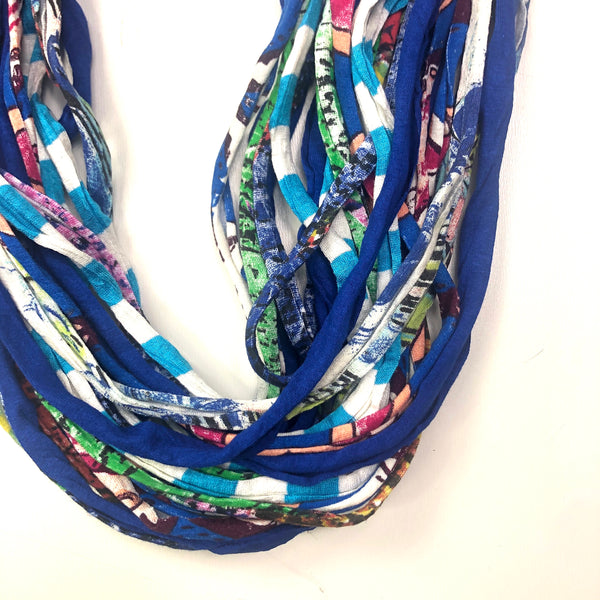 Fashion Scarf Necklace- Dona Bela Shreds