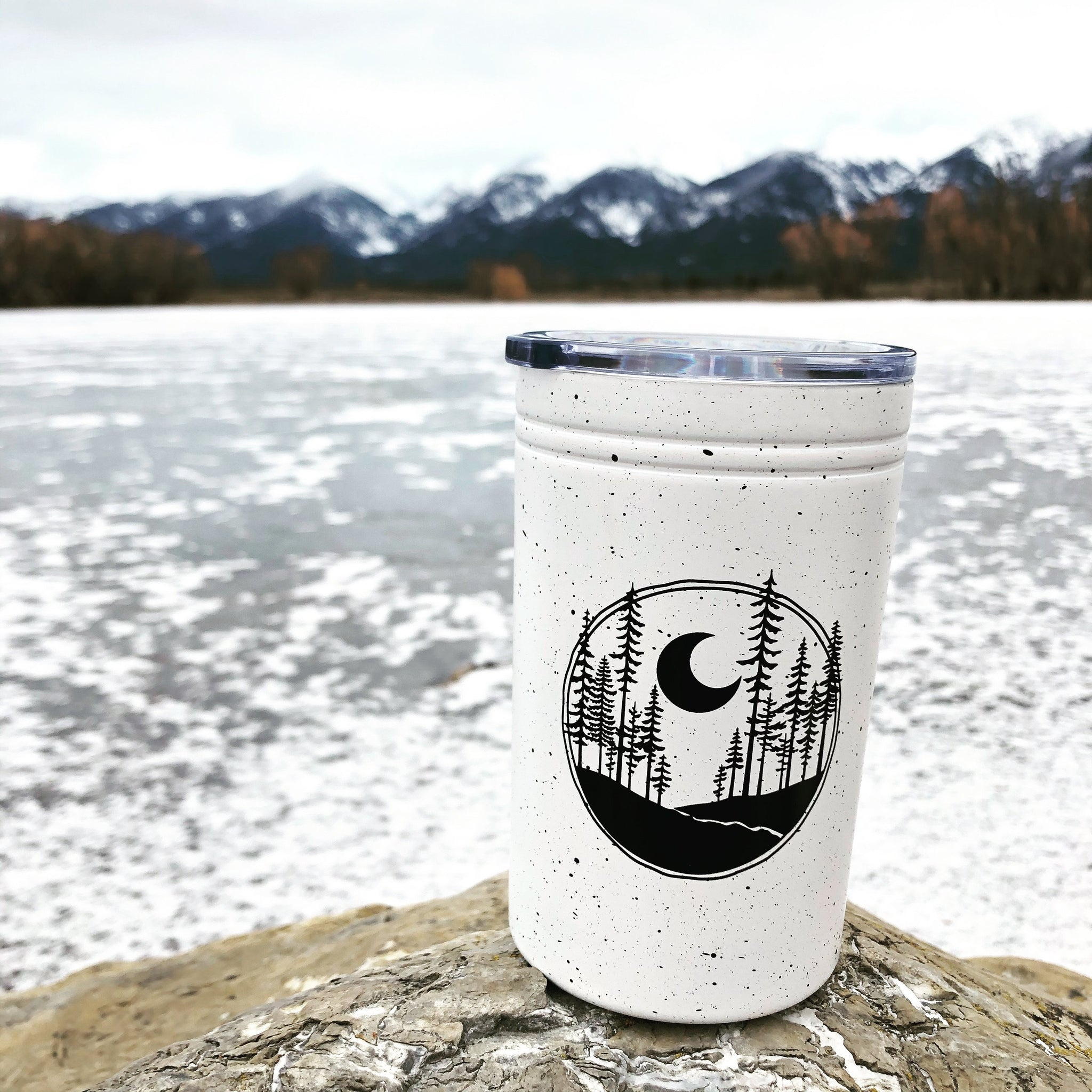 Made of Mountains - Crescent Moon Travel Tumbler