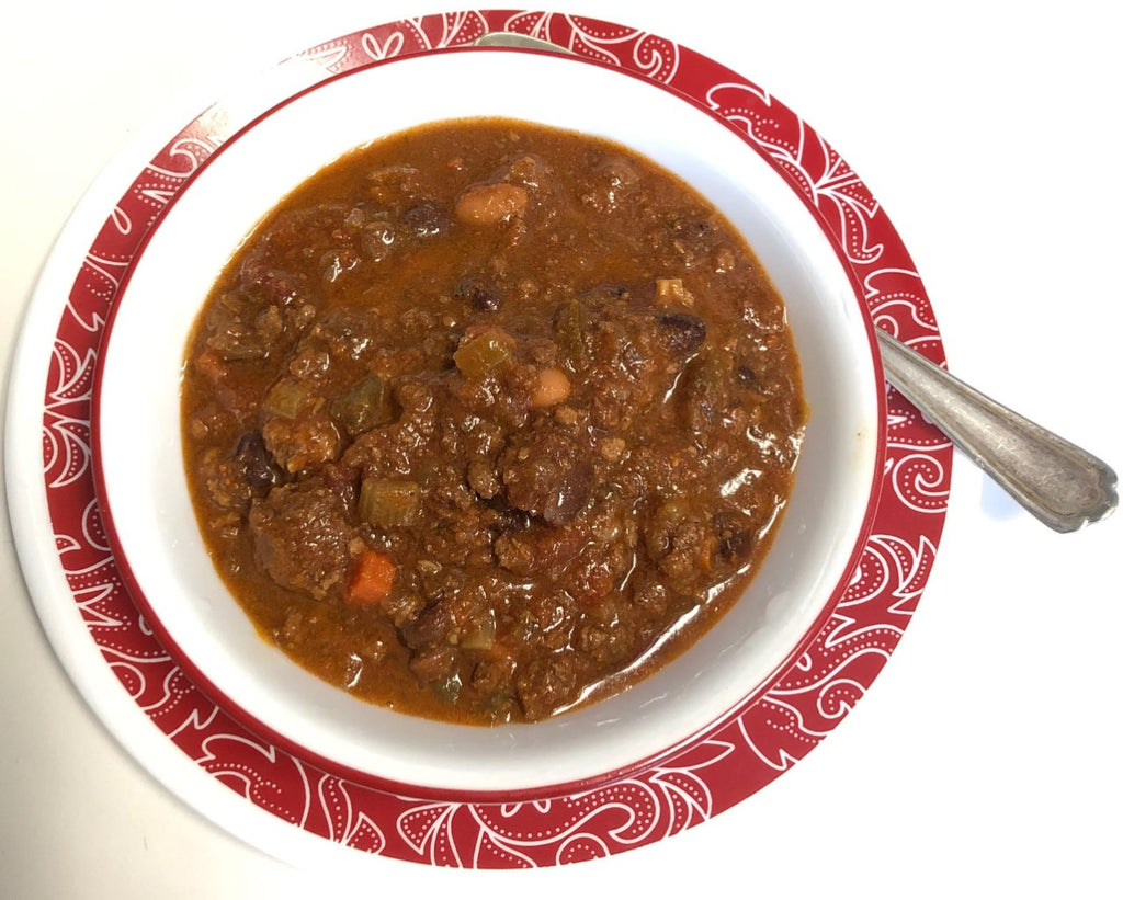 Organic Grass Fed Beef Marrow Chili With Bone Broth w/b