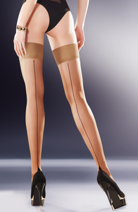 Skin hold-ups with black backseam