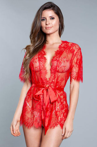 Be Wicked Love Games Robe - Red