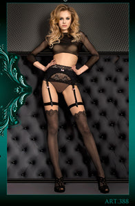 Jacquard print stockings