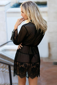 Romantic Robe Set with Lace Trim